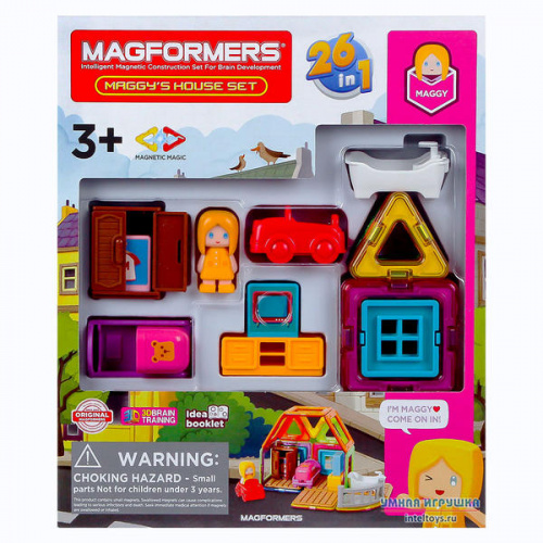 Конструктор Magformers «Maggy's House Set», Магформерс, 33 детали