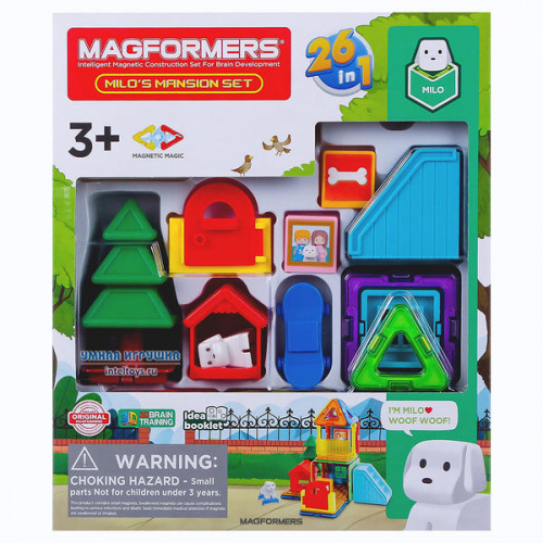 Конструктор Magformers «Milo's Mansion Set», Магформерс, 33 детали