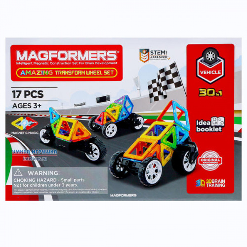 Конструктор Magformers «Amazing Transform Wheel Set», 17 деталей