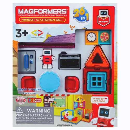 Конструктор Magformers «Minibot's Kitchen Set», Магформерс, 33 детали
