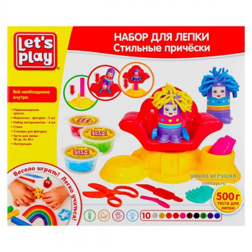 Набор «Стильные прически» для лепки, Let's Play