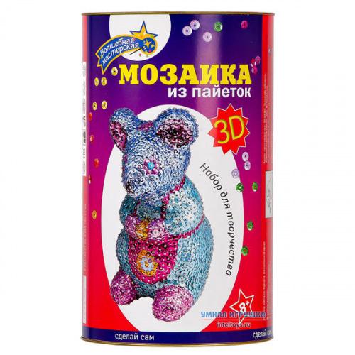 Мозаика 3D «Мышка» из пайеток, Волшебная мастерская