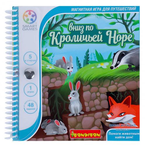 Логическая игра «Вниз по кроличьей норе», Bondibon (Бондибон)