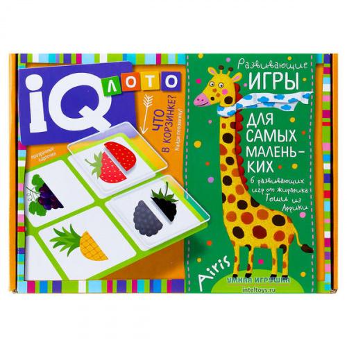 Пластиковое лото «Что в корзинке?» для малышей, Айрис-Пресс