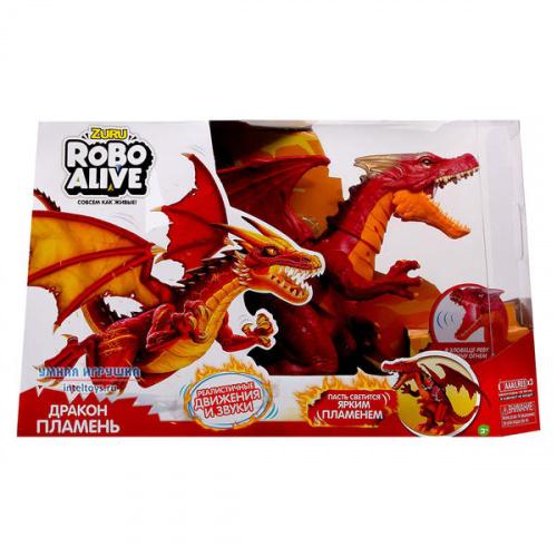 Интерактивный робо-дракон «Пламень» RoboAlive, ZURU (Зуру)