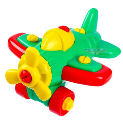 Конструктор-транспорт «Самолет», 19 элементов, Полесье