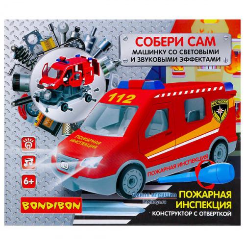 Конструктор с отверткой Bondibon «Пожарная инспекция – Собери сам», Бондибон