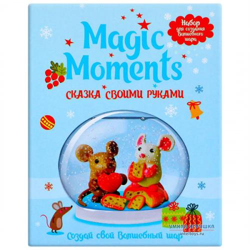 Волшебный шар со снегом Magic Moments «Мышата», Меджик Моментс