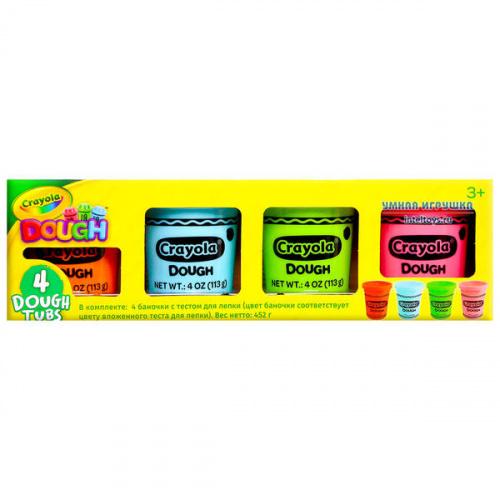 Тесто для лепки Crayola «Мини», 4 баночки, Крайола