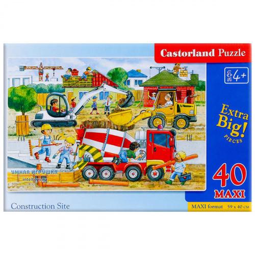 Макси-пазл «Стройка», Castorland (Касторленд), 40 элементов