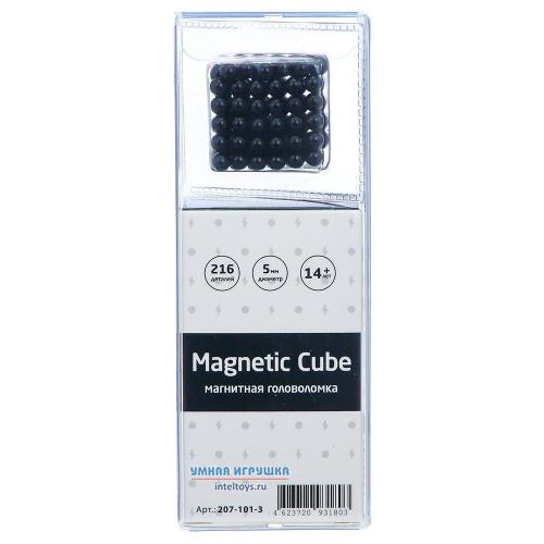 Магнитная головоломка Magnetic Cube (черный), 216 деталей