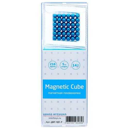 Магнитная головоломка Magnetic Cube (голубой), 216 деталей
