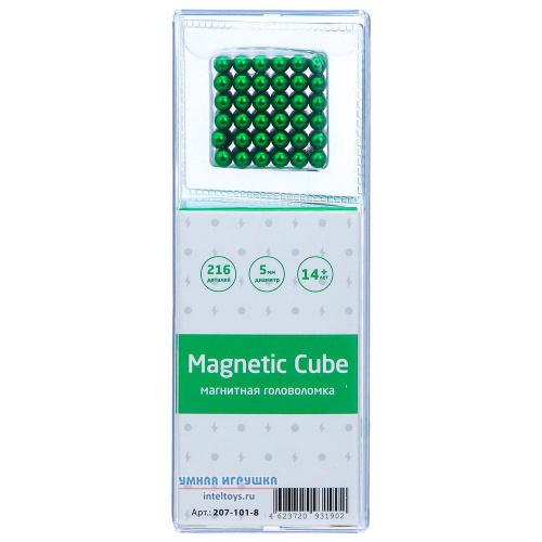 Магнитная головоломка 216 деталей Magnetic Cube (зеленый)