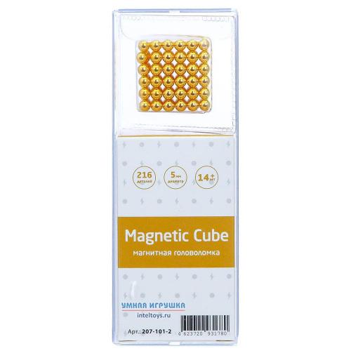 Магнитная головоломка Magnetic Cube (золотой), 216 деталей