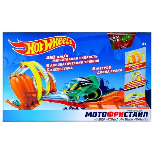 Трек Hot Wheels «Мотофристайл – Гонка на выживание», 1TOY (1ТОЙ)