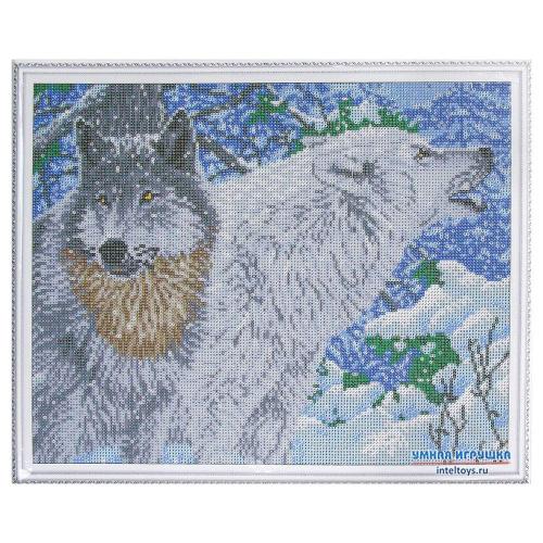 Алмазная мозаика «Северные волки – Самоцветы», 40х50 см, Molly (Молли)
