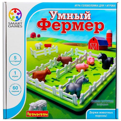 Логическая игра «Умный фермер», Bondibon (Бондибон)