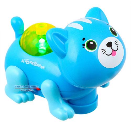 Игрушка «Диско-зверята – Котик» (темно-голубой), Азбукварик