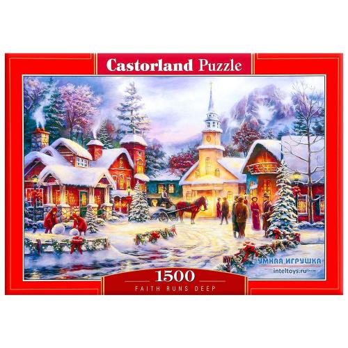 Пазл «Праздник Рождества», Castorland (Касторленд), 1500 элементов