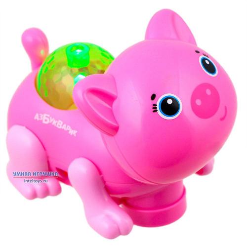 Игрушка «Свинка – Диско-зверята» (темно-розовая), Азбукварик