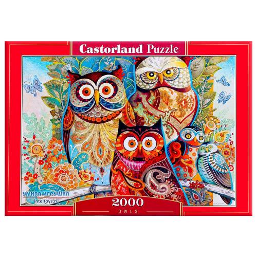 Пазл «Совы», Castorland (Касторленд), 2000 элементов