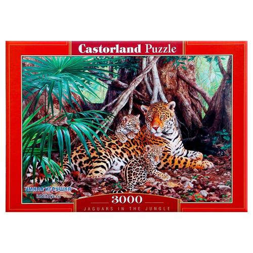 Пазл «Ягуары в джунглях», Castorland (Касторленд), 3000 элементов