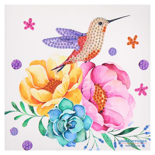 Алмазная мозаика-открытка своими руками «Колибри», Mazari