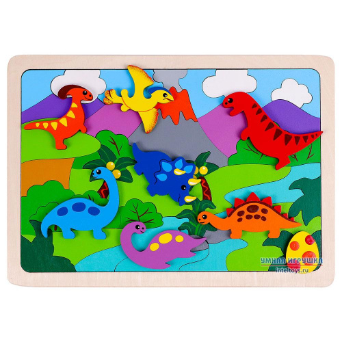 Деревянная мозаика «Динозаврики», Крона