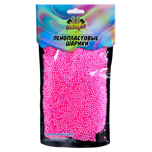 Розовые пенопластовые шарики для слайма, 2 мм, Slimer