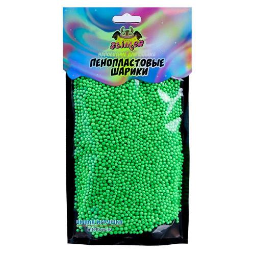 Маленькие шарики для слайма, светло-зеленые, 2мм, Slimer