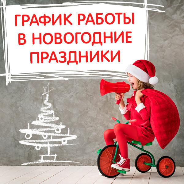 График работы магазинов «Умная игрушка» в новогодние каникулы