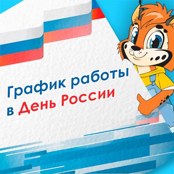 График работы магазинов «Умная игрушка» в День России