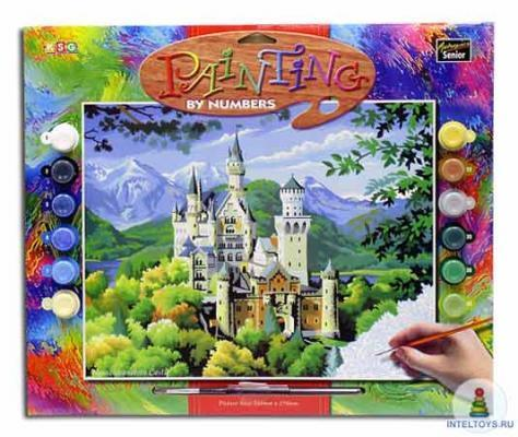 Картина по номерам «Замок» с акриловыми красками, KSG (КСГ)