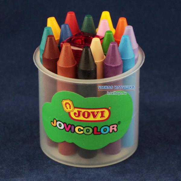 Восковые карандаши JOVI (Джови) 16 цветов