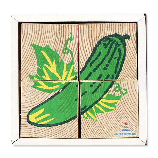 Кубики «Овощи» 4 шт.