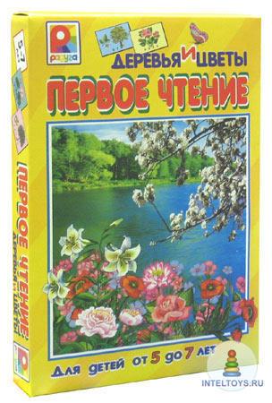 Настольная игра для обучения чтению детей «Первое чтение. Растения», Радуга