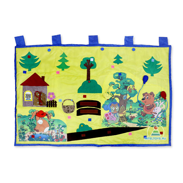 Сенсорный коврик для ребенка «Винни-Пух и его друзья», Наивный мир