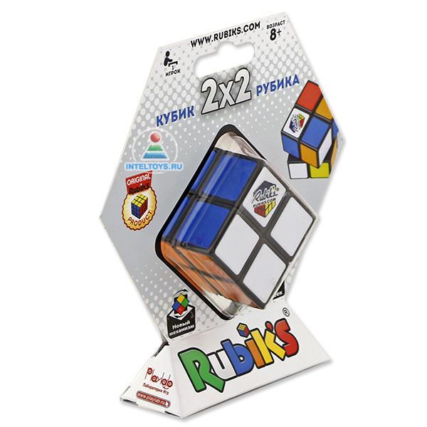 Кубик Рубика 2х2 без наклеек, новый механизм, 6 цветов, Rubik`s (Рубикс)
