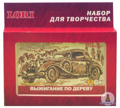 Доска для выжигания по дереву в рамке «Ретро-автомобиль», Lori (Лори)