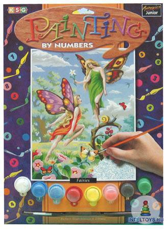 Картина по номерам с акриловыми красками «Феи»