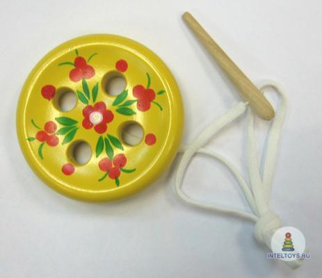 Шнуровка «Пуговица» 4-дырочная сувенирная
