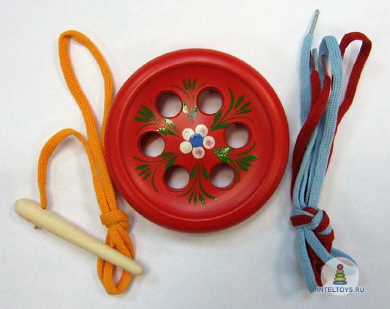 Шнуровка «Пуговица» 6-дырочная сувенирная