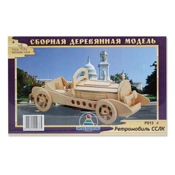 Деревянная модель сборная «Ретроавтомобиль ССКЛ»