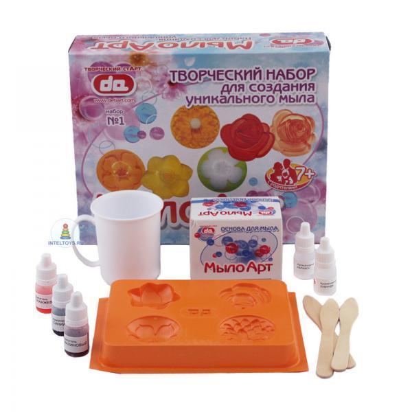 Набор для изготовления мыла «Цветы» для детей, Дети Арт