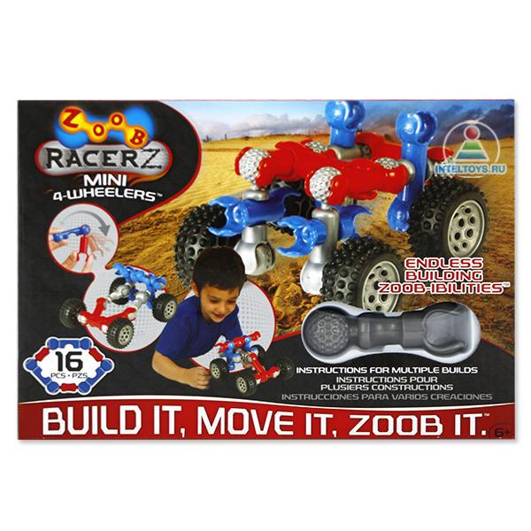 Детский конструктор Zoob (Зуб) Mobile «Mini 4 Wheleer», 16 элементов
