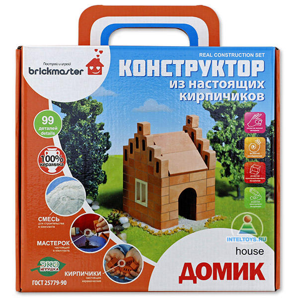 Керамический конструктор из кирпичиков Брикмастер «Домик»