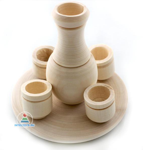 «Молочный набор» деревянный