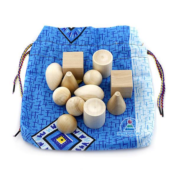 Набор «Волшебный мешочек» геометрический (неокрашенный)