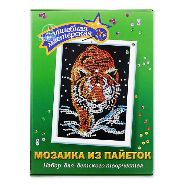 Мозаика из пайеток «Тигр» (Волшебная мастерская)