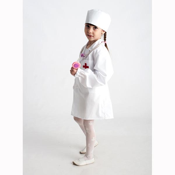 Детский костюм для сюжетно-ролевых игр «Доктор» (халат+шапочка) фото